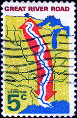 Great river road. US Postage.