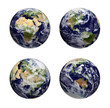 Four globes -  Earth texture by nasa.gov