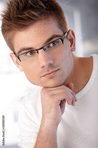 Portrait of stylish young man