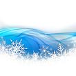 Fond vague neige et flocon