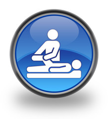 Physical Therapy Glossy Button