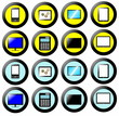 Technology Icon, Button Collection, signs and symbols multimedia