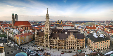 Panorama view of Munchen city
