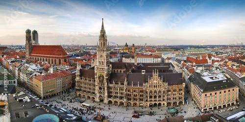 Panorama view of Munchen city