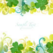 spring background with clover