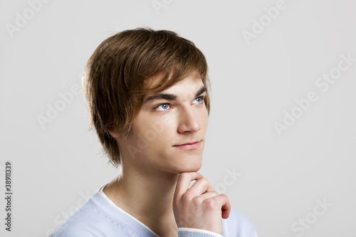 Young man thinking