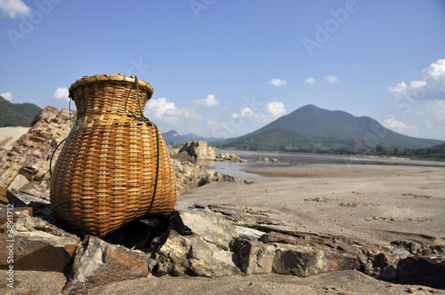 Bamboo Fish Sand River Basket Creel