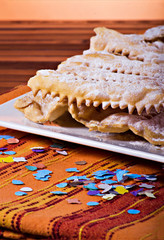 """""""Chiacchiere"""" traditional italian carnival's pastry"""