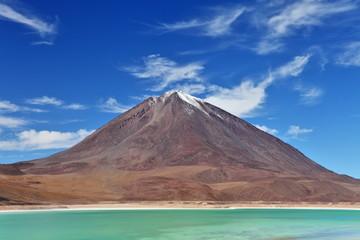Volcano Licancabur and Laguna Verde, Altiplano, Bolivia