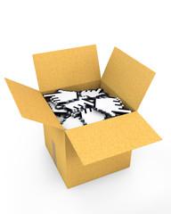 Box full of hand cursors