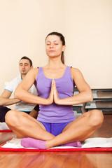 Young woman practice yoga