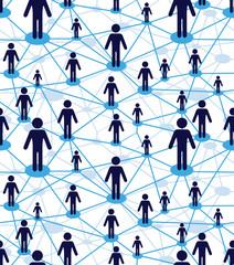 Business team people diagram