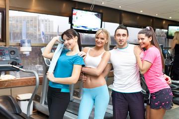 team in gym