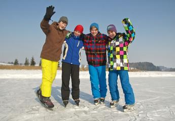 Gruppe Eislaufkids