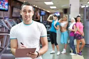 handsome fitness instructor