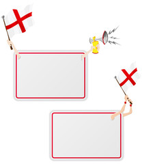England Sport Message Frame with Flag. Set of Two