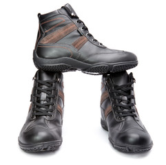 Men s boots on white background