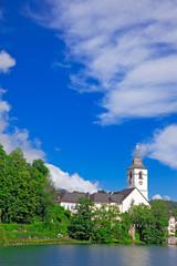 Village St. Wolfgang on the lake Wolfgangsee Austria