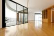 beautiful apartment, interior, big room with window