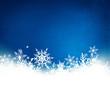 Fond neige flocon bleu horizontal