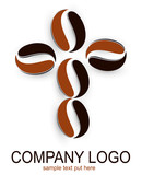Fototapety Logo, human shape from coffee beans