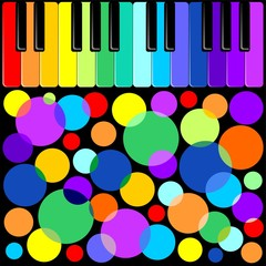 Tastiera Festa in Musica-Keyboard Music Party-Vector