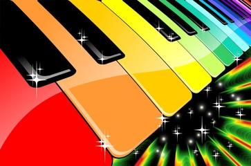 Tastiera Arcobaleno Festa in Musica-Rainbow Keyboard Music Party
