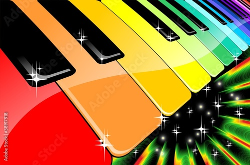 Tastiera Arcobaleno Festa in Musica-Rainbow Keyboard Music Party