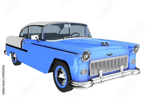 1950s car in blue