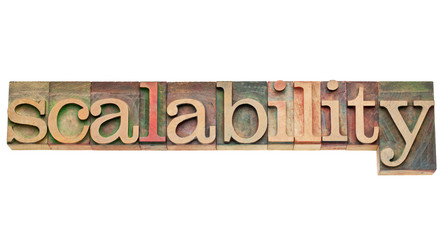 scalability word in wood type