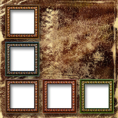 Grunge abstract background with frames for a photo.