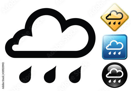 Rain pictogram and signs