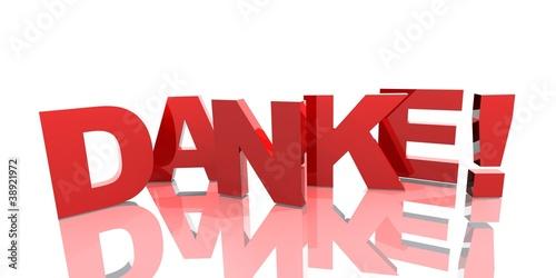 3D Buchstaben - DANKE