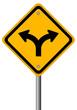Fork in the road sign, vector illustration