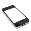Smartphone weißes Display liegend