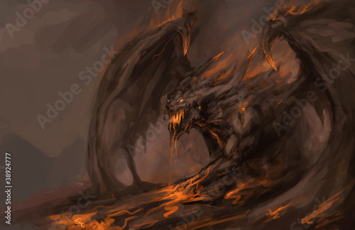 molten roch dragon
