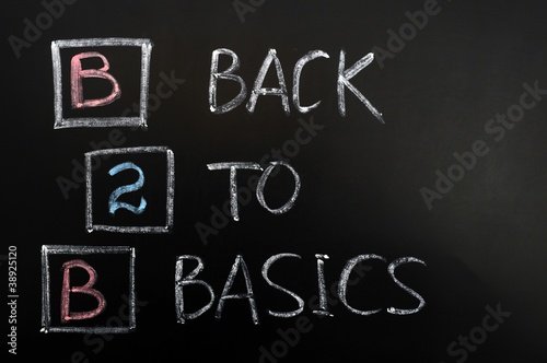 Acronym of B2B - Back to basics
