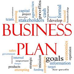 Business Plan Word Cloud Concept