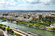 Paris cityscape with Seine river