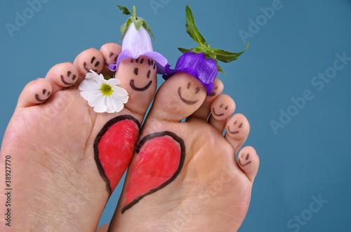 Verliebte Füße