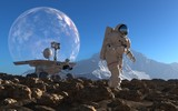 Astronaut and moonwalker