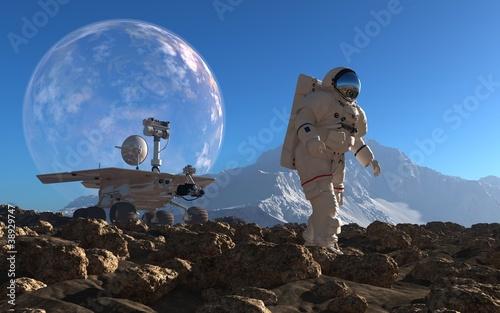 Astronaut and moonwalker - 38929747