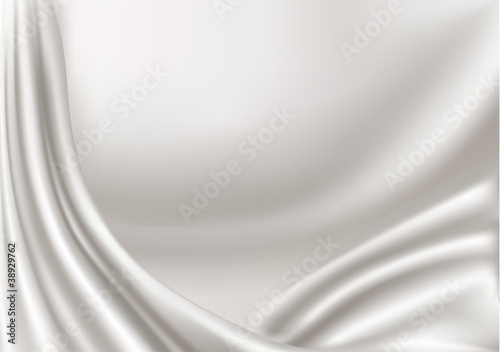Elegant white silk texture. Vector illustration.