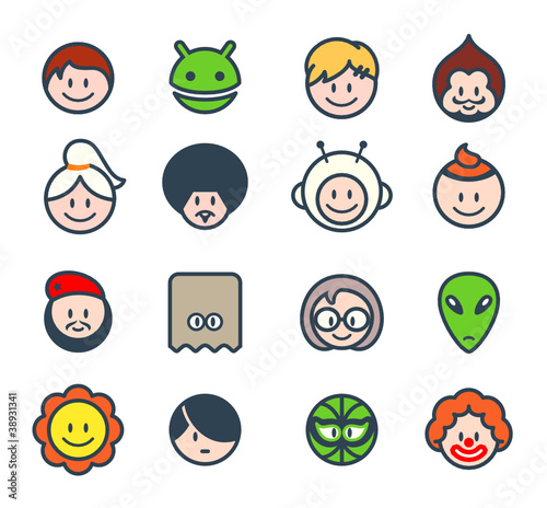 Characters for social networks or forum avatars