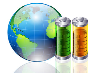 world and battery