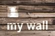 Réseau social, style tag mur bois
