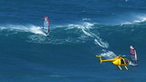 Windsurfer on Ocean Wave in Hawaii