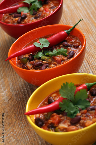 Bowls of chili