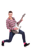 Guitarist Playing six-string electric guitar poster