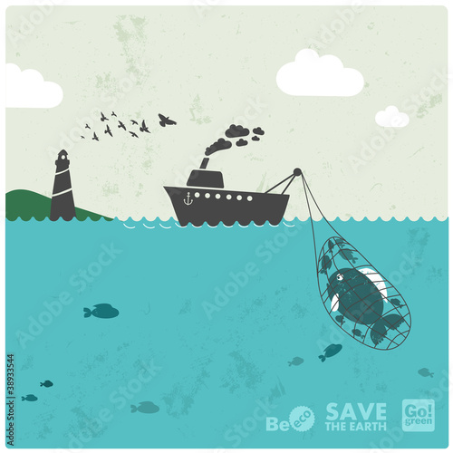 "fishing industry - eco balance ""don't take too much"""